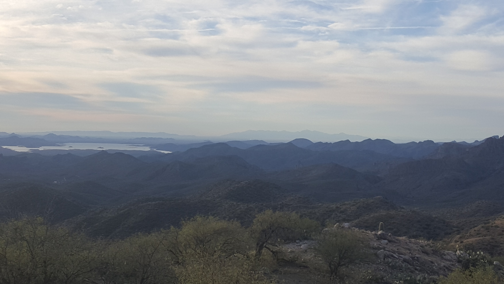 Panorama Toward the West of Lake Pleasant